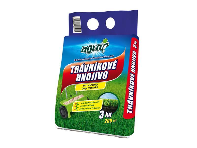 Hnojivo trávníkové AGRO 3 kg pytel