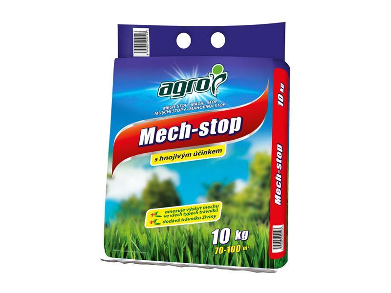 Hnojivo trávníkové AGRO MECH STOP 10 kg proti mechu pytel