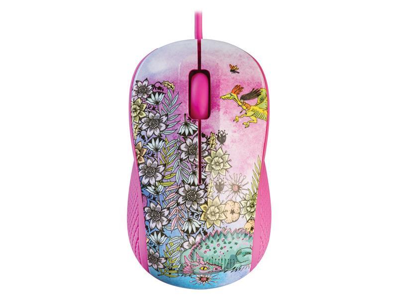 PC myš YENKEE YMS 1020PK  USB FANTASY růžová