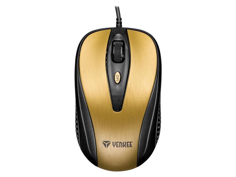 Myš drátová YENKEE YMS 1025GD Quito zlatá