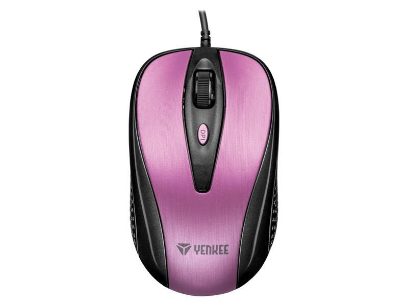 PC myš YENKEE YMS 1025PK  USB Quito růžová