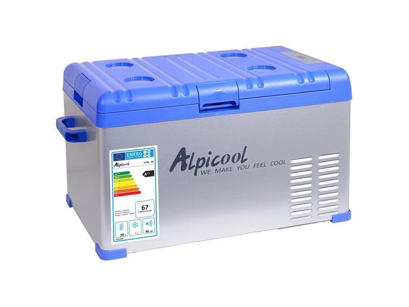 Autochladnička ALPICOOL 30l, 230/24/12V -20°C kompresorová