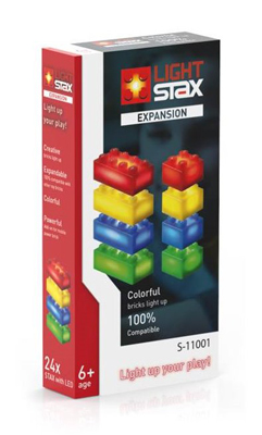 Stavebnice LIGHT STAX EXPANSION RGBY kompatibilní LEGO