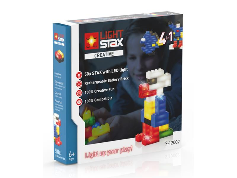 Stavebnice LIGHT STAX CREATIVE 4v1 kompatibilní LEGO