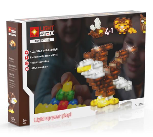 Stavebnice LIGHT STAX ADVENTURE 4v1 kompatibilní LEGO