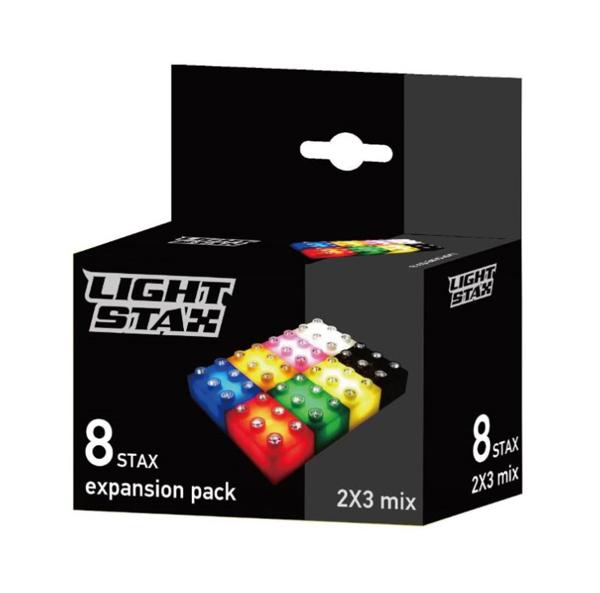 Stavebnice LIGHT STAX PACK MIX 8 COLORS 8PCS kompatibilní LEGO DUPLO