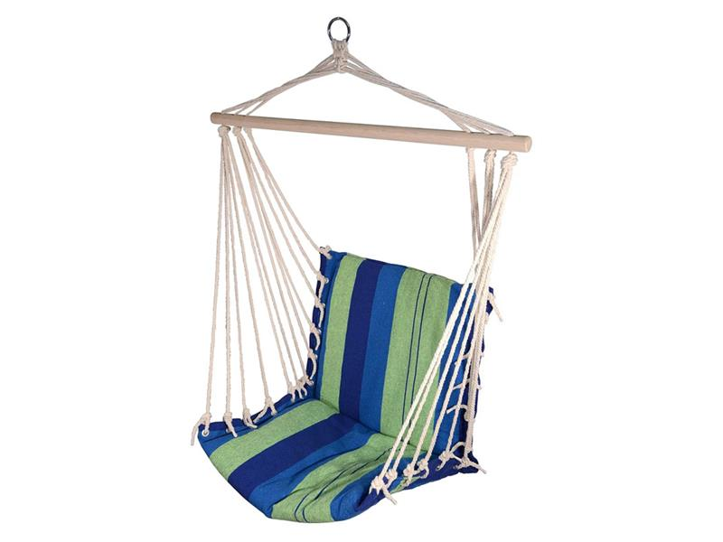 Síť houpací k sezení CATTARA 95x50cm modro-zelená