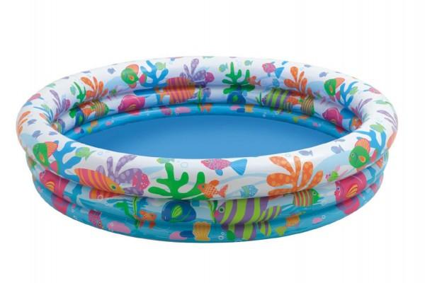 Dětský bazén TEDDIES 3 komory 132 x 28 cm