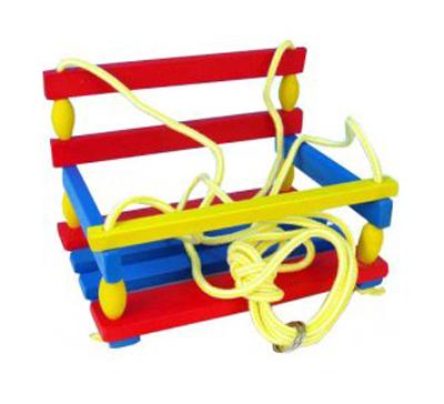 Houpačka dětská TEDDIES dřevěná barevná