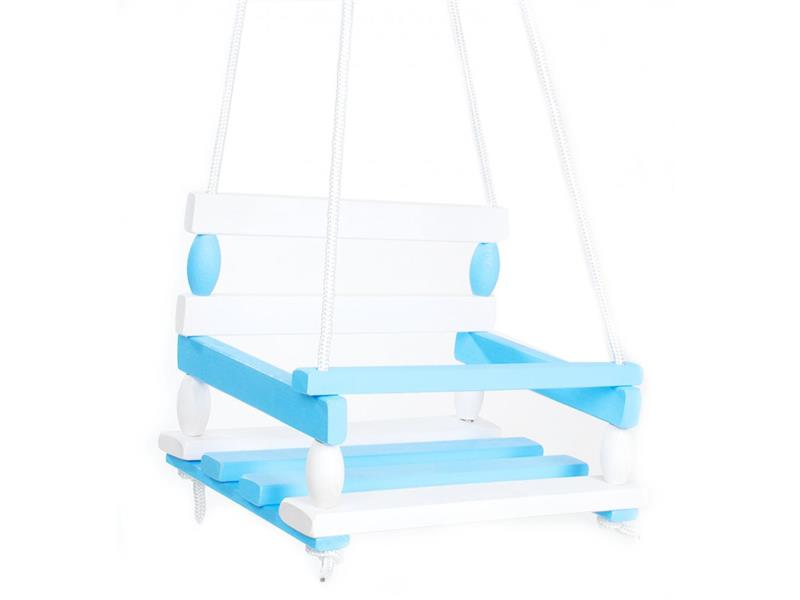 Houpačka dětská TEDDIES dřevěná modrá