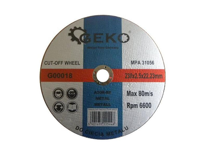 Kotouč řezný na ocel 230x2,5x22,2mm, GEKO