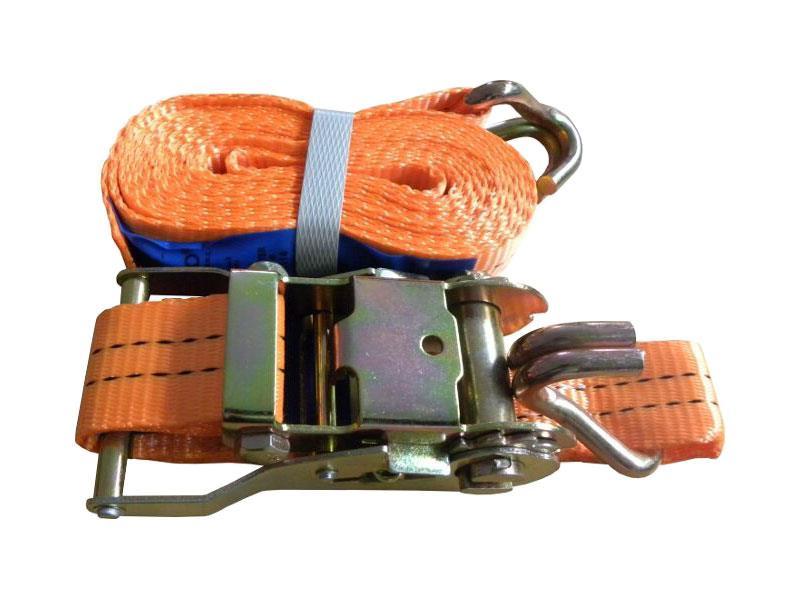 Popruh upínací s ERGO ráčnou a hákem, 12m/5T/50mm, GEKO