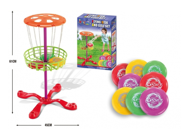 Házení míčků do košíku G21 FLYING DISK AND GOLF SET