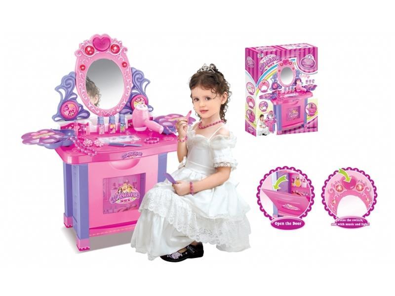Dětský kosmetický stolek G21 MUSIC LIGHT s příslušenstvím