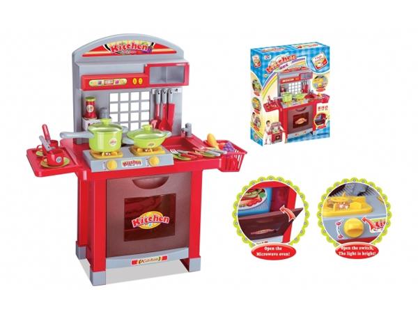 Dětská kuchyňka G21 SUPERIOR s příslušenstvím RED
