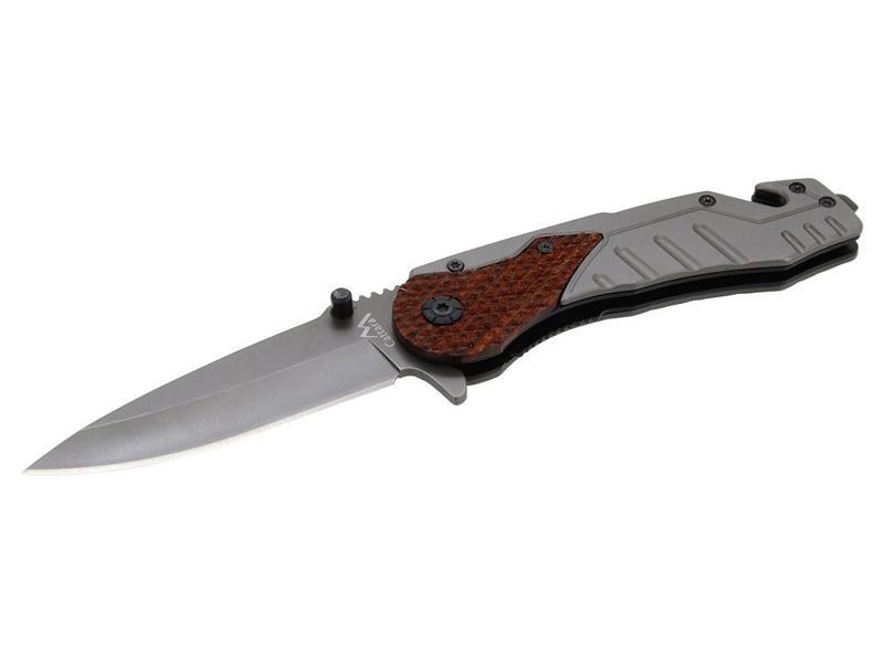 Nůž kapesní zavírací CATTARA WOOD, s pojistkou, 21cm