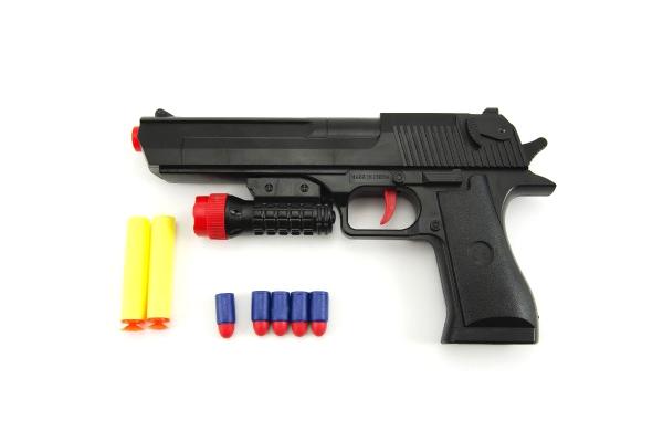 Dětská pistole TEDDIES GLOCK na pěnové náboje 30 cm