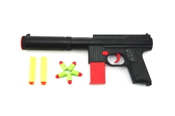 Pistole dětská TEDDIES MP5 pěnové náboje