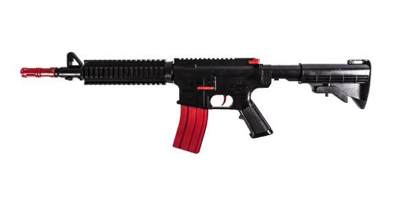 Dětská puška TEDDIES M16 na pěnové náboje 68 cm
