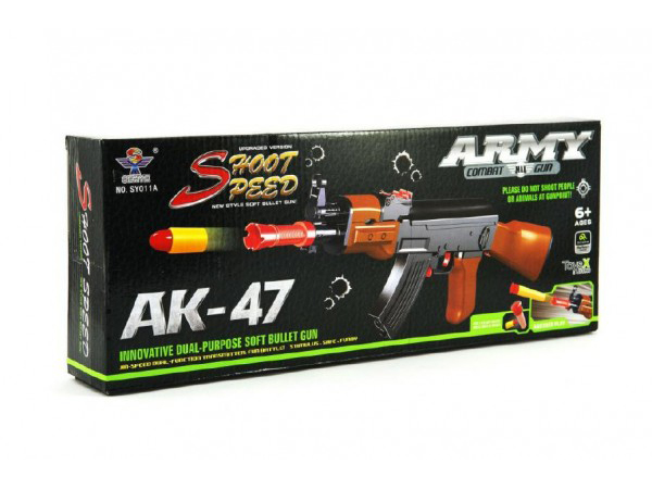 Pistole TEDDIES ARMY AK-47 pěnové náboje