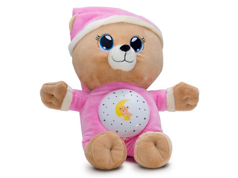 Dětský plyšový medvídek TEDDIES Usínáček 32 cm růžový