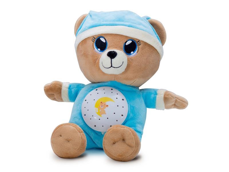 Dětský plyšový medvídek TEDDIES Usínáček 32 cm modrý