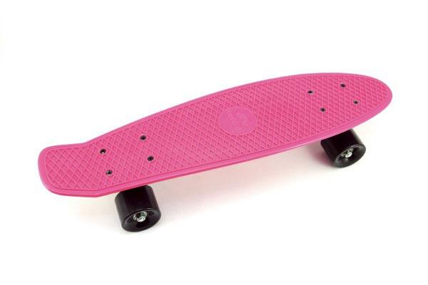 Skateboard dětský TEDDIES růžový