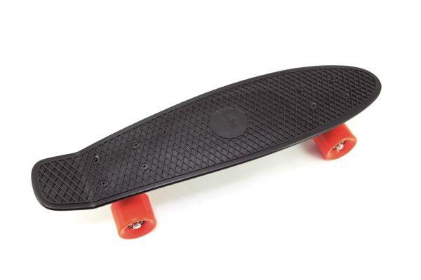 Skateboard dětský TEDDIES černo-oranžový