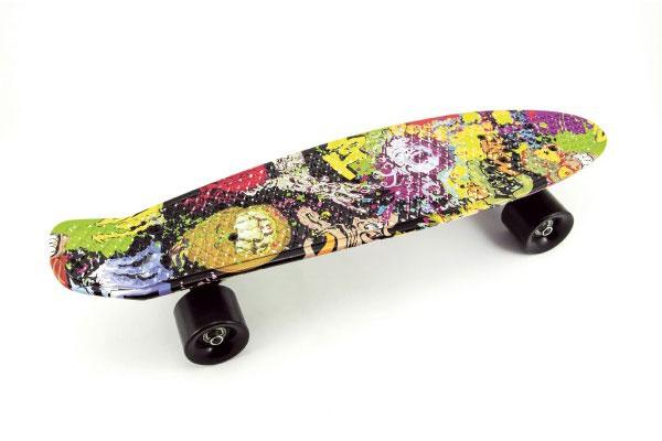 Skateboard dětský TEDDIES graffiti