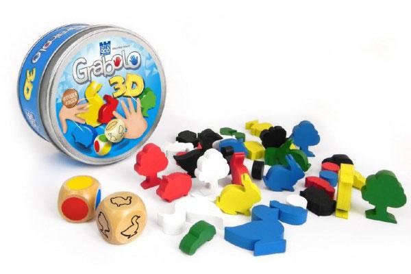 Hra karetní BONAPARTE GRABOLO 3D dětská