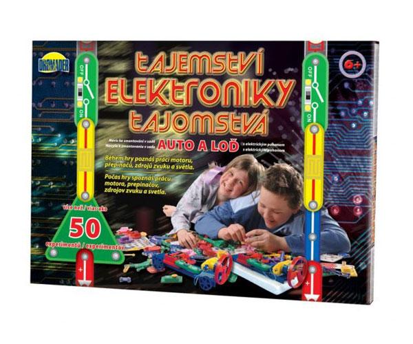 Stavebnice elektronická DROMADER TAJEMSTVÍ ELEKTRONIKY AUTO dětská