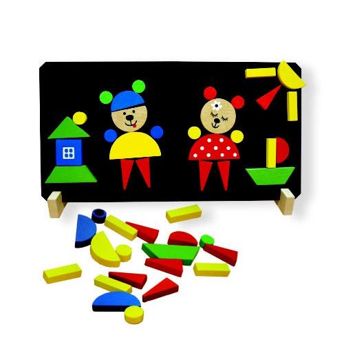 Dětské magnetické puzzle DETOA Medvědi