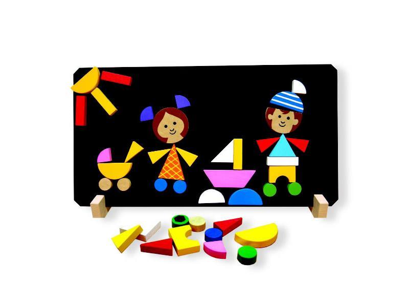 Puzzle magnetické DETOA DĚTI dětské