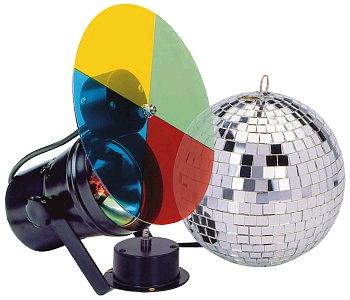 Efekt koule set IBIZA (koule 20cm+motor+světlo+filtr)