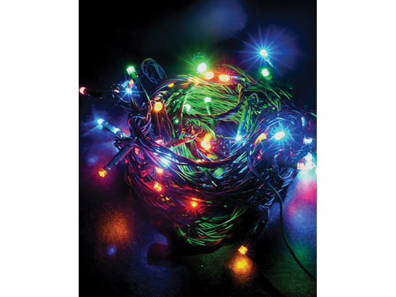 Solight 1V02-M vánoční řetěz 120 LED, 20m, přívod 5m, IP44, multicolor
