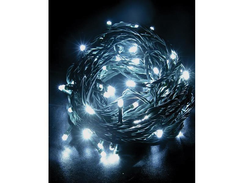 Solight Vánoční řetěz 60 LED, 10m, IP20, bílý, 1V01-W