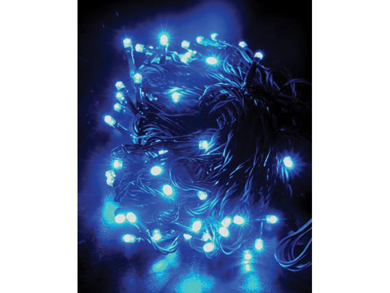 Solight Vánoční řetěz 60 LED, 10m, IP20, modrý, 1V01-B