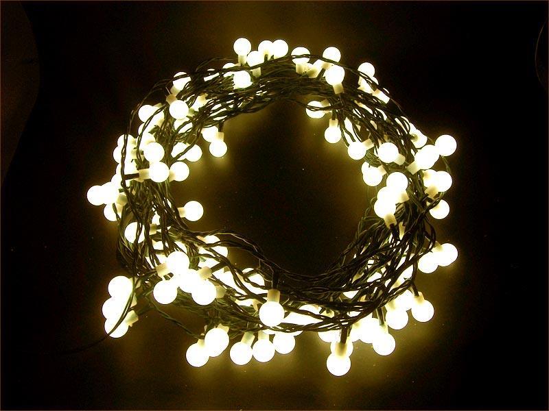 Řetěz vánoční 150 LED 20m bílá teplá IP44 kuličky RETLUX RXL5