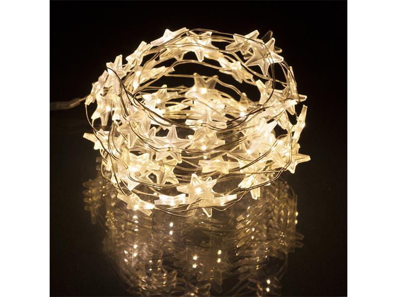 Vánoční LED řetěz 60 LED 3m STAR CW RETLUX RXL 35