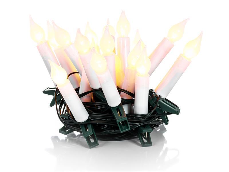 Řetěz vánoční 20 LED, 7m, teplá bílá, IP20, svíčky, RETLUX RXL 131