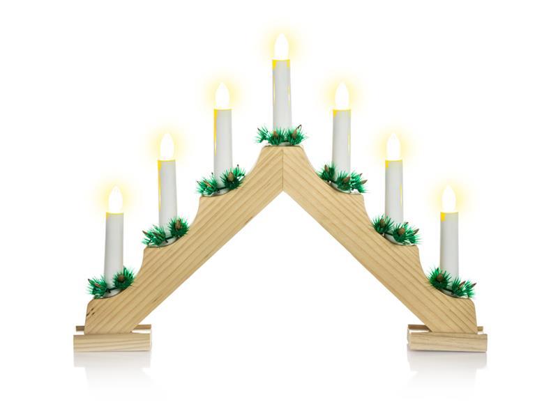 Svícen vánoční 7LED, teplá bílá, IP20, svíčky, RETLUX RXL 134