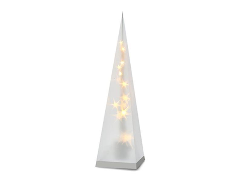 Vánoční pyramida, 3D efekt světla, 16 LED, 45cm, 3 x AA, teplá bílá 1V43