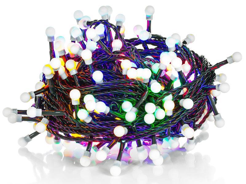 Řetěz vánoční 200 LED 20+5m MC TM kuličky RETLUX RXL224