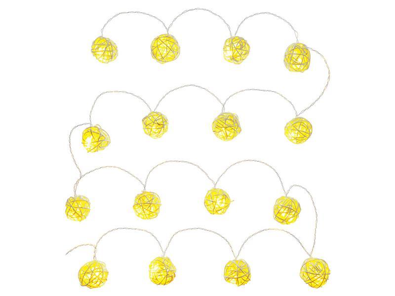 Řetěz vánoční koule přírodní 16 LED WW TM RETLUX RXL248