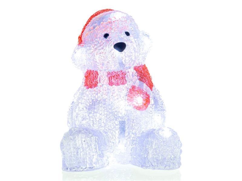 Vánoční dekorace medvěd akryl 16LED CW TM RETLUX RXL252