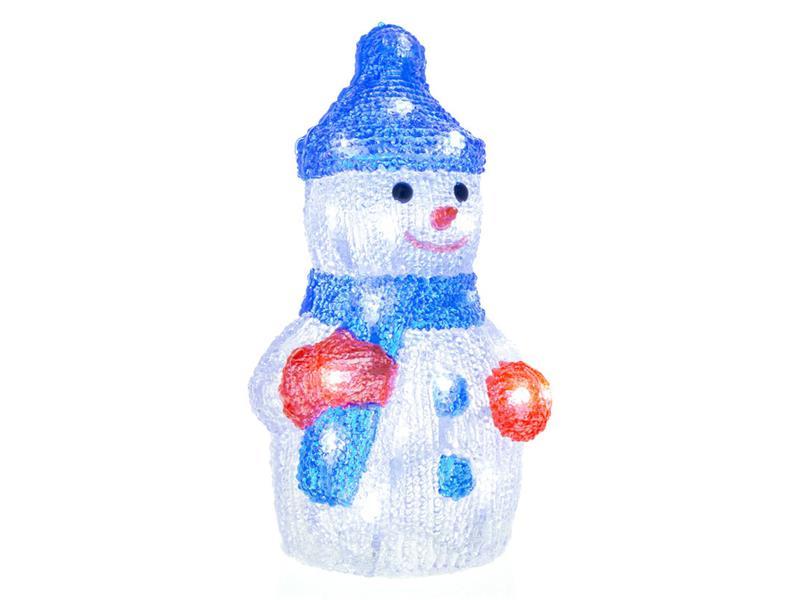 Vánoční dekorace sněhulák akr. 30LED CW TM RETLUX RXL254