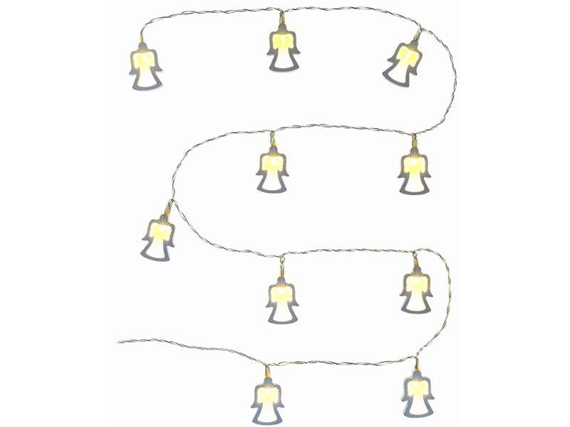 Řetěz vánoční dřevění andělé 10 LED WW TM RETLUX RXL269