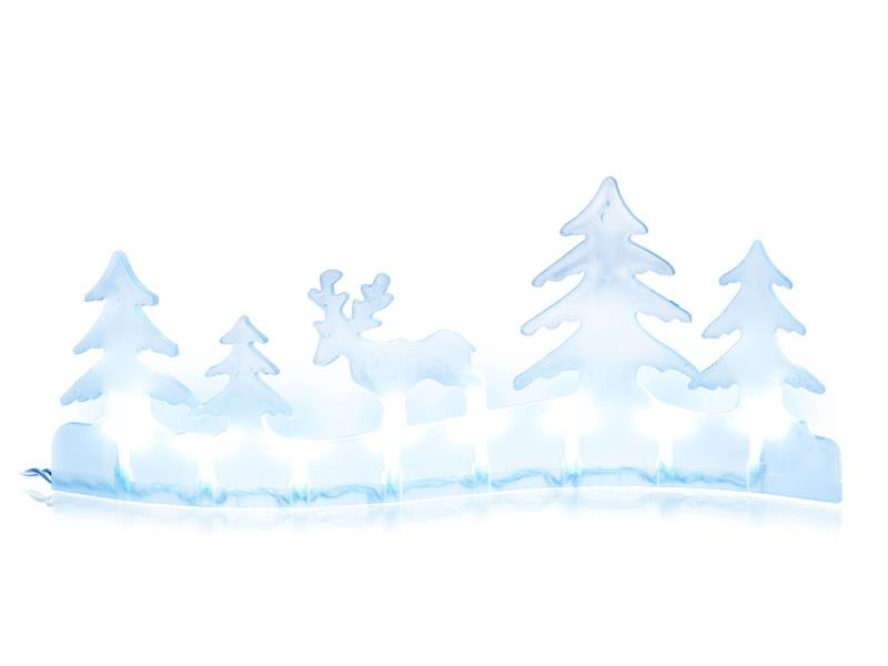 Vánoční dekorace krajina sob 8 LED CW TM RETLUX RXL281