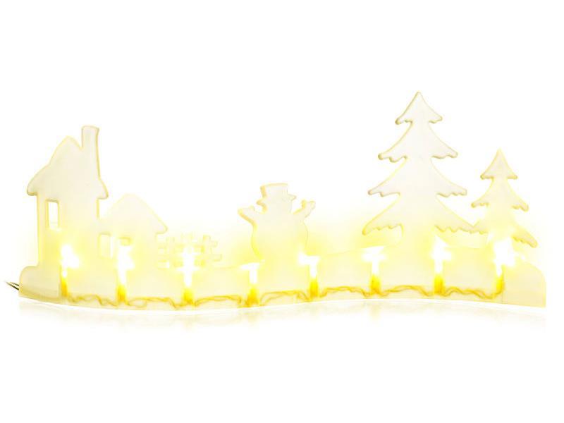 Vánoční dekorace krajina dům 8LED WW TM RETLUX RXL280