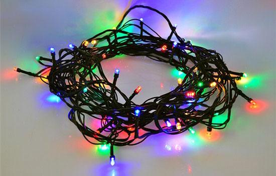 Řetěz vánoční 8 funkcí 200 LED, 20m, přívod 5m, časovač, IP44, vícebarevný SOLIGHT 1V102-M